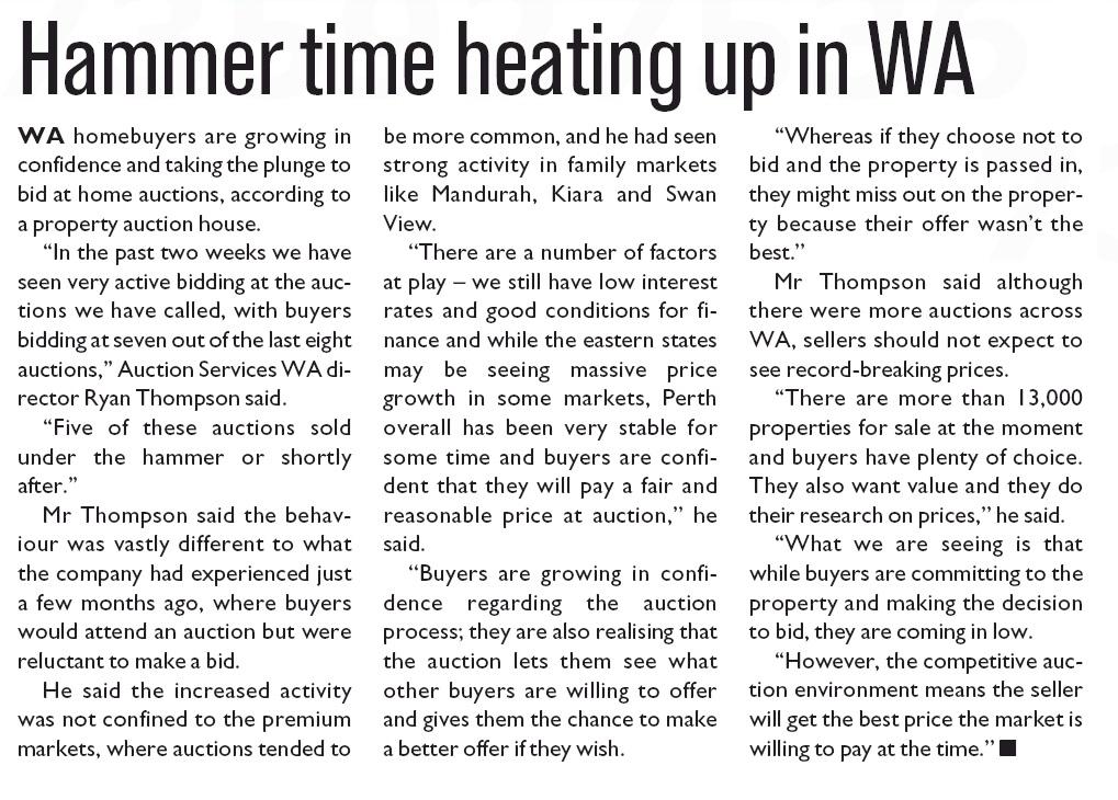 Mandurah Coastal Times 150715 Buyers bidding more
