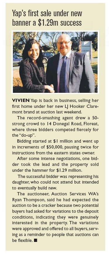 Residential West 150707 Vivien Yap first auction sale