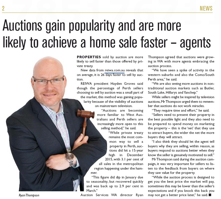 Residential West 160419 Auction sell faster