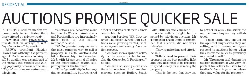 Southern Gazette 160510 Auctions sell faster